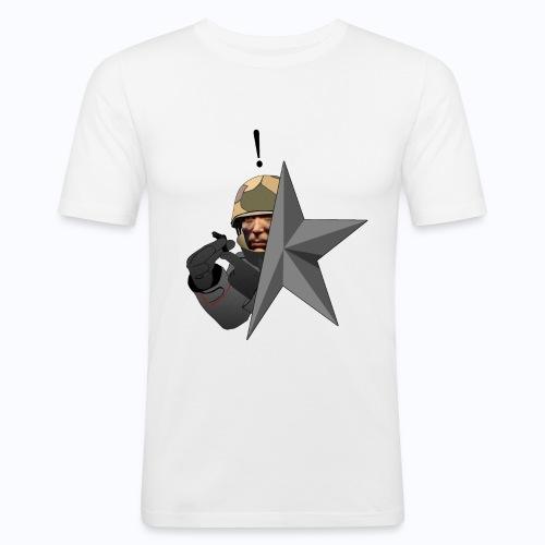 Kolibri Service Star (WHITE SHIRT) - Men's Slim Fit T-Shirt