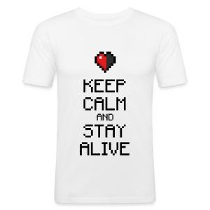 Keep calm and stay alive (dd print) - Männer Slim Fit T-Shirt