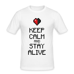 Keep calm and stay alive (dd print) - Männer Slim Fit T-Shirt
