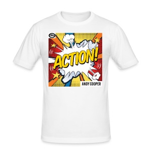 "Origu T-Shirt Andy Cooper ""Action"" - white - Men's Slim Fit T-Shirt"