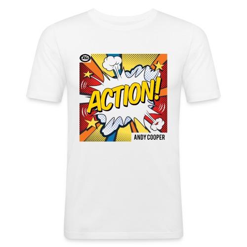 "Origu T-Shirt Andy Cooper ""Action"" - white - Men's Slim Fit T-Shirt"