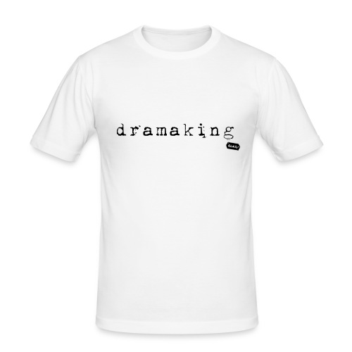dramaking weiss - Männer Slim Fit T-Shirt