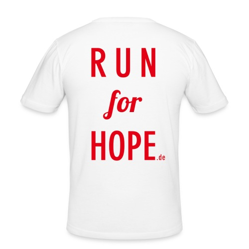 RUN for HOPE Männer T-Shirt Slim Fit - Männer Slim Fit T-Shirt