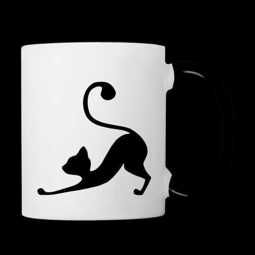 Downward Facing Dog - Cat Edition - Contrasting Mug
