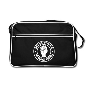 Seoul Power - Ki Sung Yueng - Black Print on Black Retro Bag - Retro Bag