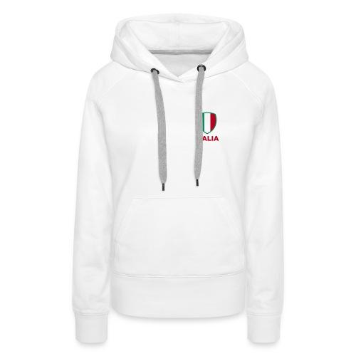 sweatshirt a capuche femme drapeau italien italian style - Sweat-shirt à capuche Premium pour femmes