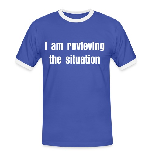 Reviewing the situation - Men's Ringer Shirt