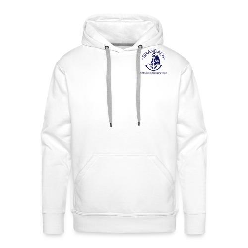 Brandaen AA Mannensweater met capuchon - WIT - Mannen Premium hoodie