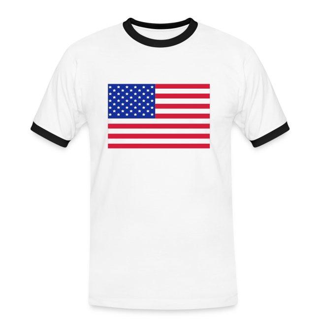 USA FLAG CONTRAST TEE