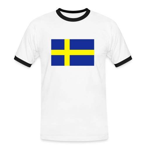 SWEDEN FLAG CONTRAST TEE  - Men's Ringer Shirt
