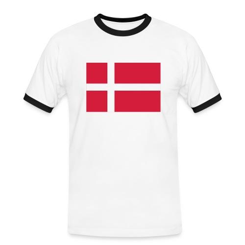 DENMARK FLAG CONTRAST TEE  - Men's Ringer Shirt
