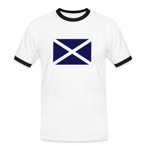 SCOTLAND FLAG CONTRAST TEE  - Men's Ringer Shirt