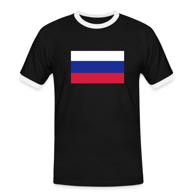 RUSSIA FLAG CONTRAST TEE