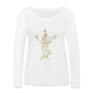 Goldelse auf der Siegessäule (gold) - Frauen Bio-Langarmshirt von Stanley & Stella