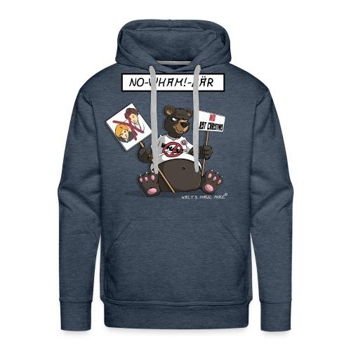 Sweater Herren - No-Wham!-Bär - Männer Premium Hoodie
