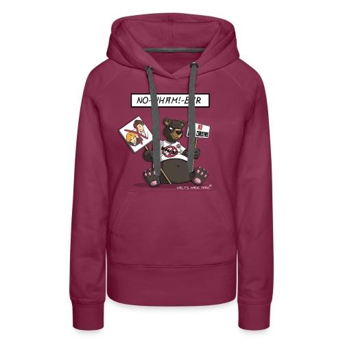 Sweater Damen - No-Wham!-Bär - Frauen Premium Hoodie
