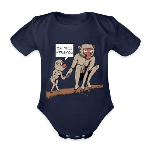 Strampler - Makaken - Baby Bio-Kurzarm-Body