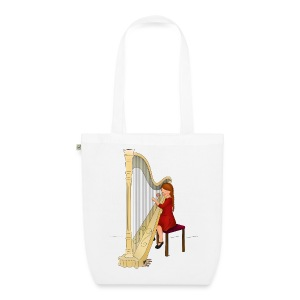 Child playing Harp - Bio stoffen tas