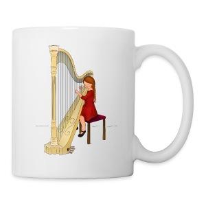Child playing Harp - Mok