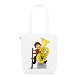 Child playing Tuba - Bio stoffen tas
