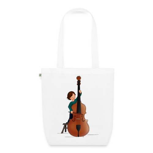 Child playing Double bass - Bio stoffen tas