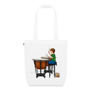 Child playing Timpani - Bio stoffen tas