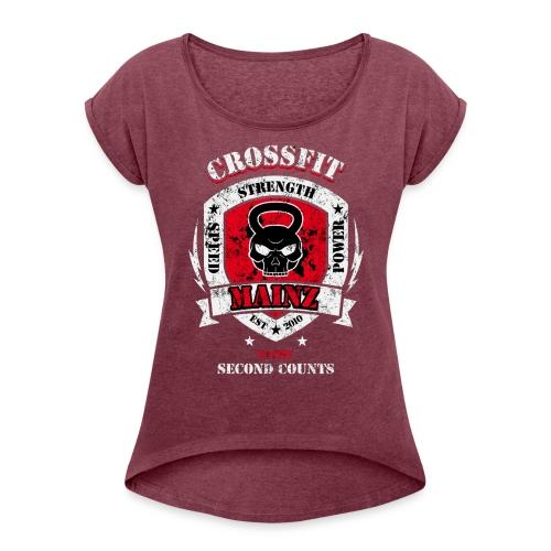 Damen Shirt Multicolor Mix Standard - Frauen T-Shirt mit gerollten Ärmeln
