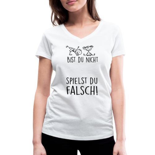 Spielst du falsch? - Frauen Bio-T-Shirt mit V-Ausschnitt von Stanley & Stella