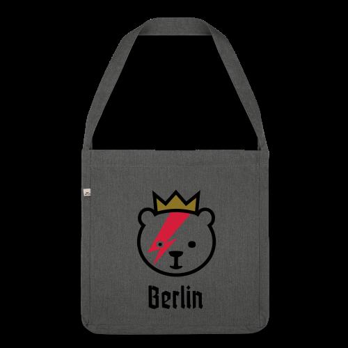 Bowie-Bär in Berlin - Schultertasche aus Recycling-Material