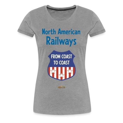 North American Railways - Logo2 - Frauen Premium T-Shirt