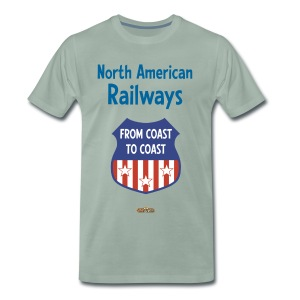 North American Railways - Logo2 - Männer Premium T-Shirt