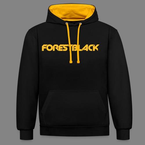 ForestBlack Regular Hoodie  - Kontrast-Hoodie