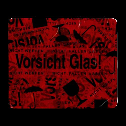 Vorsicht Glas! | Mouse Pad - Mousepad (Querformat)