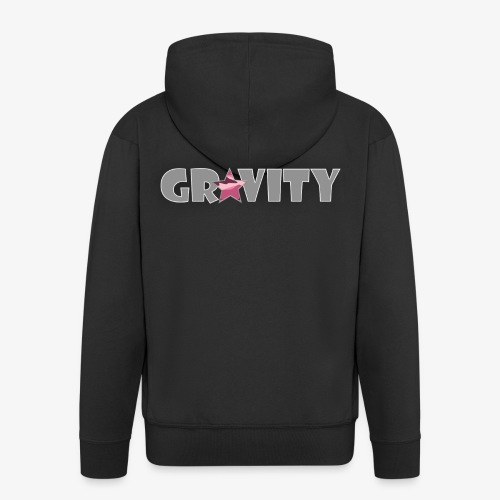 Grey Gr4vity Logo - Men's Premium Hooded Jacket