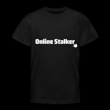 Nero online stalker T-shirt bambini