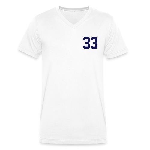 "T-Shirt Col ""V"" vintage  ""33"" - T-shirt bio col V Stanley & Stella Homme"