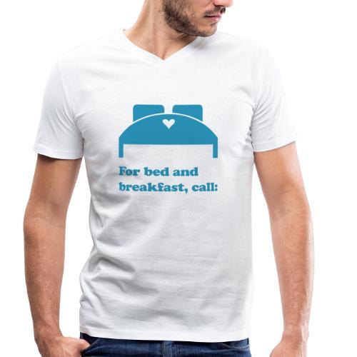 bed & breakfast - Männer Bio-T-Shirt mit V-Ausschnitt von Stanley & Stella