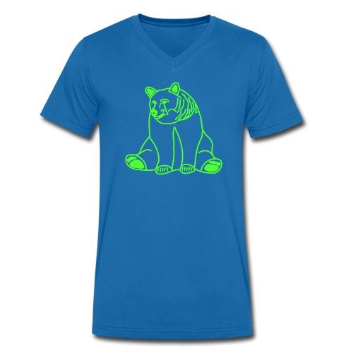 BEARs 'N' CATs poor bear shirt - Männer Bio-T-Shirt mit V-Ausschnitt von Stanley & Stella