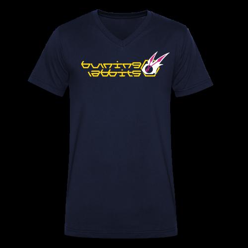 Burning Rabbits (free shirtcolour selection) - Men's Organic V-Neck T-Shirt by Stanley & Stella