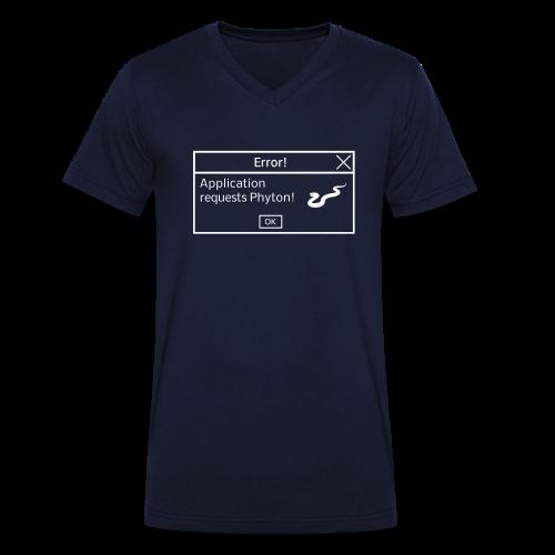Coder Shirt Phyton blau - Männer Bio-T-Shirt mit V-Ausschnitt von Stanley & Stella
