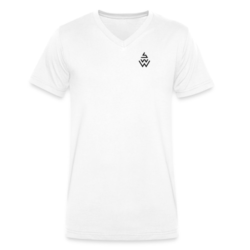 SWW - T-Shirt V - Weiß - Männer Bio-T-Shirt mit V-Ausschnitt von Stanley & Stella