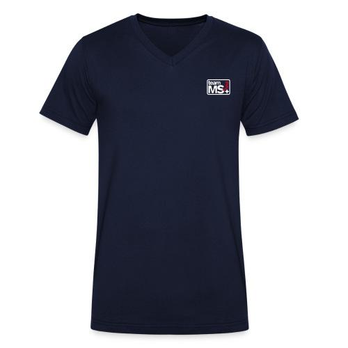 2016 - MS3 V-Ausschnitt (Logo weiß) - Männer Bio-T-Shirt mit V-Ausschnitt von Stanley & Stella