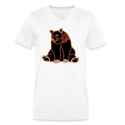 BEARs 'N' CATs poor bear filled shirt - Männer Bio-T-Shirt mit V-Ausschnitt von Stanley & Stella