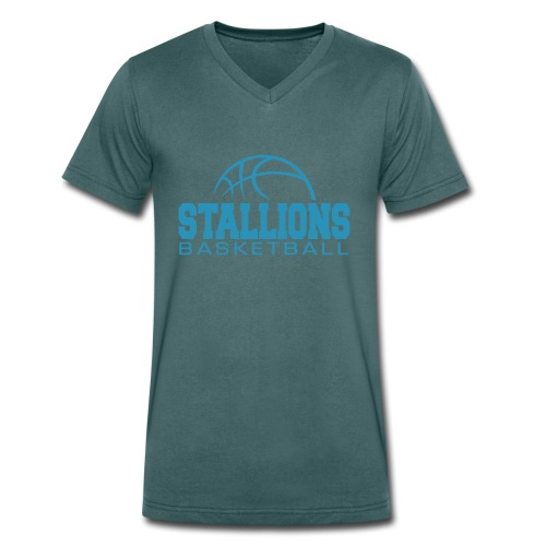 Stallions Männer T-Shirt mit V-Ausschnitt - Männer Bio-T-Shirt mit V-Ausschnitt von Stanley & Stella