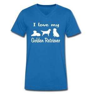 I Love my Golden Retriever - Männer Bio-T-Shirt mit V-Ausschnitt von Stanley & Stella