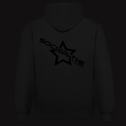 sociopathe oneup black flocage - Sweat-shirt contraste