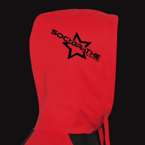 sociopathe oneup hoodie star flocage - Sweat-shirt baseball unisexe