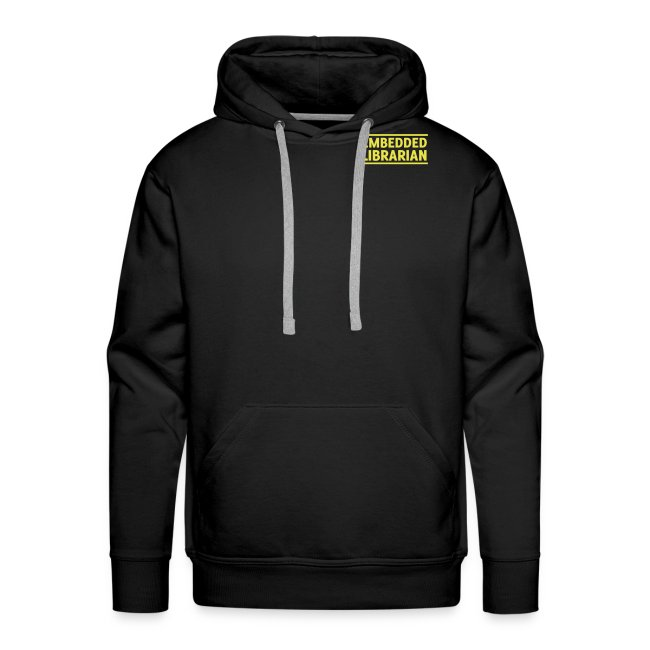 herren-hoodie schwarz mit gelbem druck