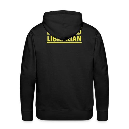 herren-hoodie schwarz mit gelbem druck - Männer Premium Hoodie