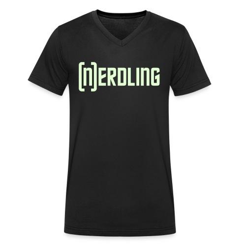 (N)ERDLING Glow - Männer Bio-T-Shirt mit V-Ausschnitt von Stanley & Stella